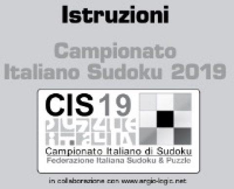 Il libretto con i sudoku del CIS 2019